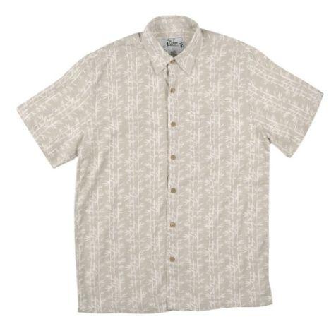 Mens Bamboo Fibre Short Sleeve Shirts: Wheat