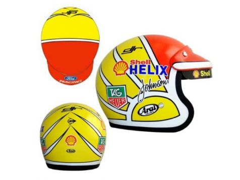1:2 Dick Johnson Shell Mini Replica Helmet Limited Edition -With Signed Certificate diecast model helmet
