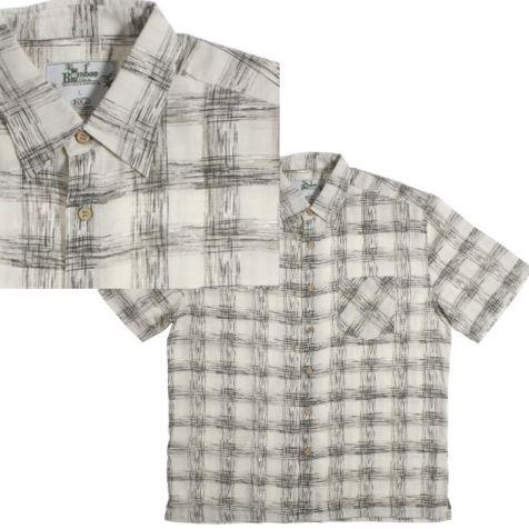 Mens Bamboo Fibre Short Sleeve Shirts: Sketch Check