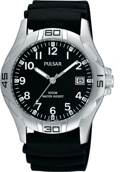 "Pulsar ""The Workman's Watch"" Black Face Urethane Strap - PXHA13X"