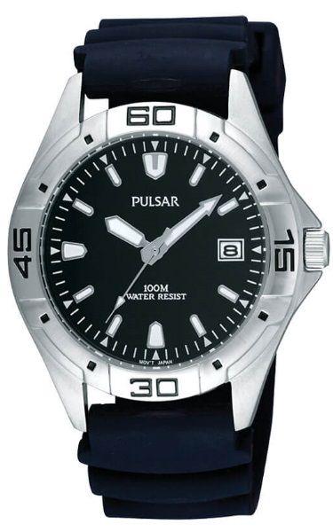 Pulsar Workmans Stainless Steel Case/Urethane Strap Band Watch PXH939X