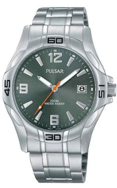 """Pulsar """"The Workman's Watch""""  PXHA53X - Silver Face Stainless Steel Bracelet"""