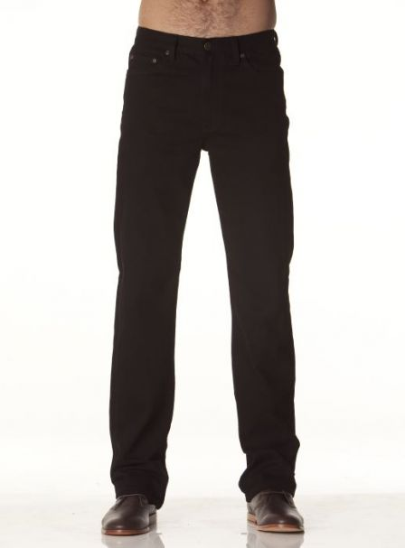 Men's Riders by Lee Straight Stretch Denim Jeans BLACK