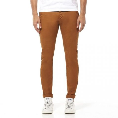 """Riders by Lee Skinny Leg Stretch Chino - Cinnamon InLeg 34"""" For a Rolled up Cuff"""