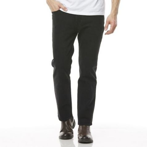 Men's Riders By Lee Classic Straight Stretch Jeans in WORN BLACK