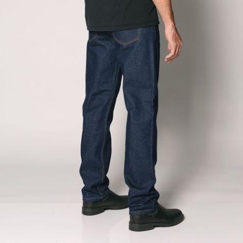 "Sterling - Men's Regular Fit Rigid Denim Jeans - Straight Leg - 30 "" Inleg - ""Rinse wash"" Waist Size: 32"" - 44"""