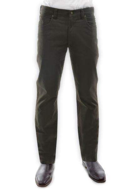 Men's Thomas Cook Straight Leg Stretch Moleskin Jeans DARK KHAKI