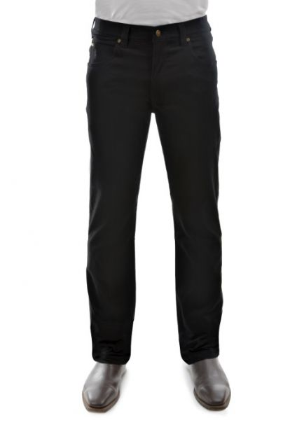 Men's Thomas Cook Straight Leg Stretch Moleskin Jeans BLACK