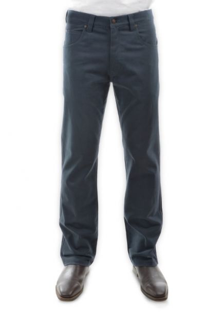 Men's Thomas Cook Straight Leg Stretch Moleskin Jeans BLUE STEEL