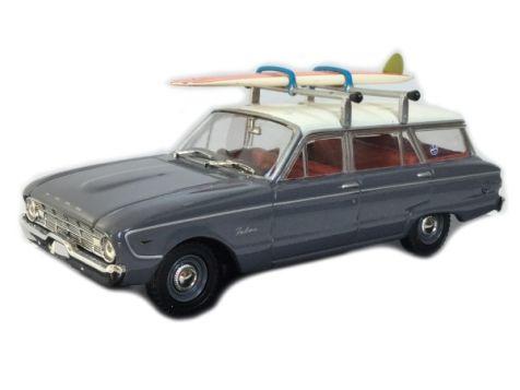 1:43 TRAX Ford Falcon XK Wagon with surfboard - Koala Grey diecast model car