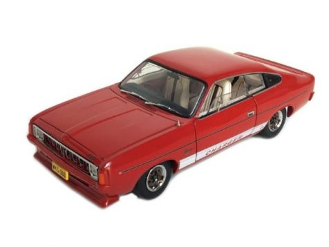 "1:24 Trax 1976 Chrysler VK Valiant Charger - ""White Knight Special"" - Amarante Red diecast model car"