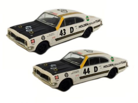 1:43 Trax - Bathurst 1969 Twin Set - HDT's Two HT GTS Monaros #43D (West/Brock) & #44D (Bond/Roberts)