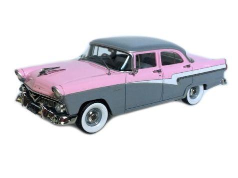 1:43 TRAX 1958 Ford V8 Customline Pink/Grey TSS04