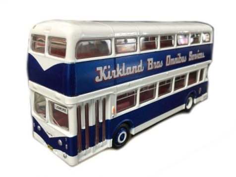 1:76 TRUX 1961 Leyland Atlantean PDR1/1 Double Decker Bus Kirkland Brothers TX10C