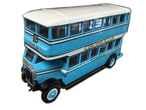 1:76 TRUX - 1930 Leyland Titan TD1 Double Deck Bus - Route 62 - TX3C