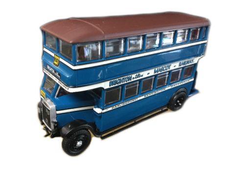 1:76 TRUX - 1929 Leyland Titan TD1 Double Deck Bus - Route 237 - TX3D