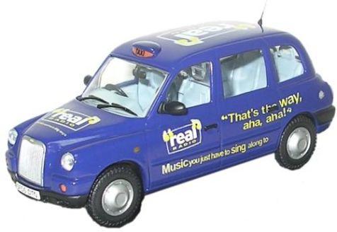 1:43 Oxford Diecast TX4 Taxi Real Radio TX4003