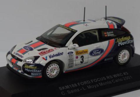 1:43 vitesse ford focus wrc 2001 monte carlo rally sainz moya v10fmc skm188