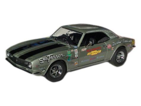 1:18 ExactDetail Replicas 1968 'Sea Terror' Silver with Black Stripes Chevrolet Camaro Z/28 - WCC224