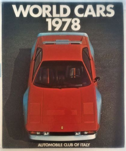 World Cars 1978 - Automobile Club Of Italy-Hardcover-ISBN0-910714-10-X