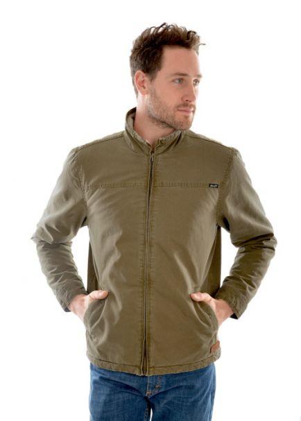 Men's Wrangler Fleece-Lined 'Marcus' Jacket OLIVE