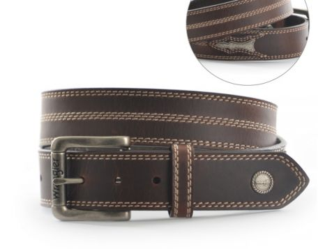 Men's Wrangler Giddings Full Grain Leather Belt